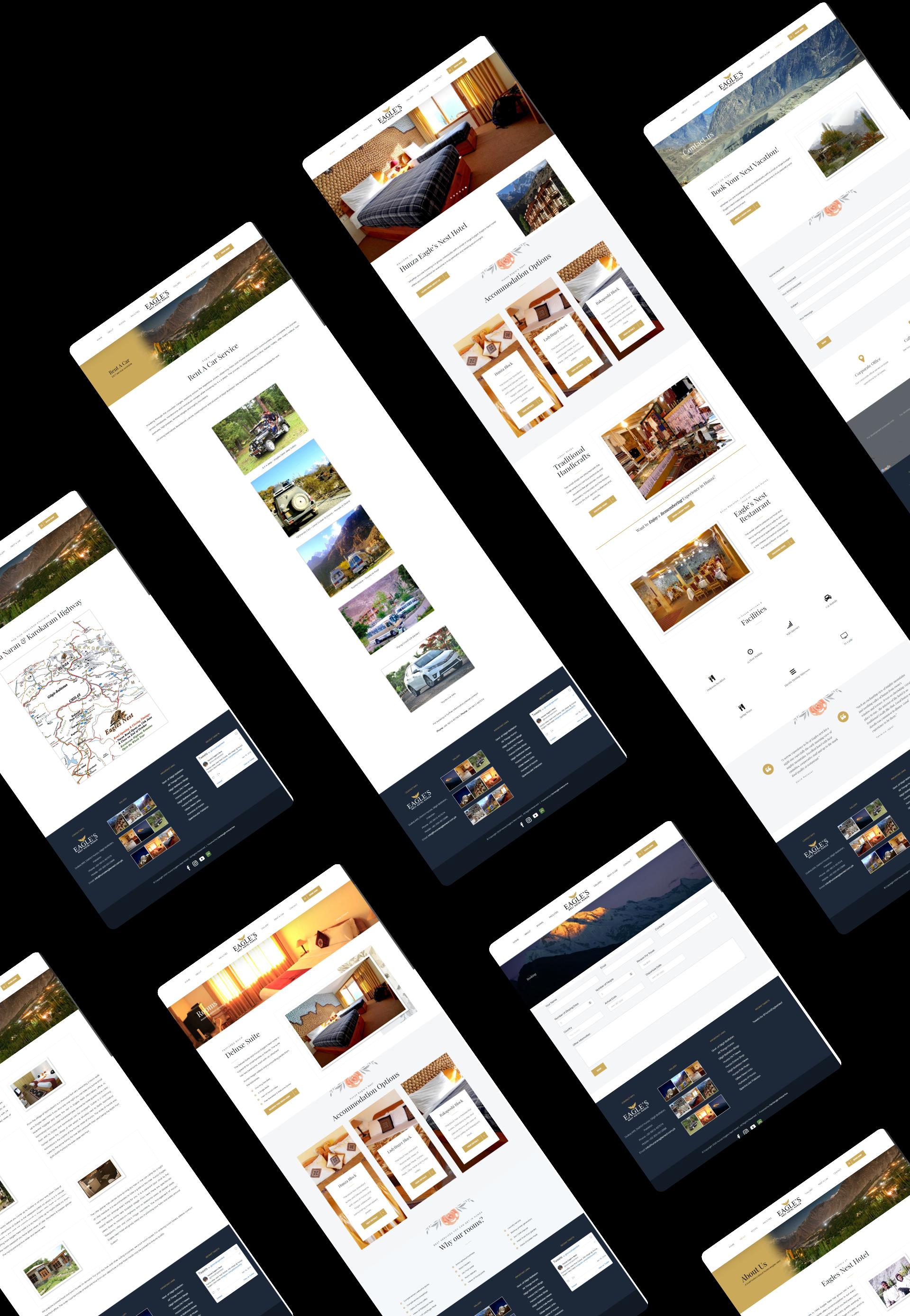 Hunza Eagle's Nest Website Mock-up