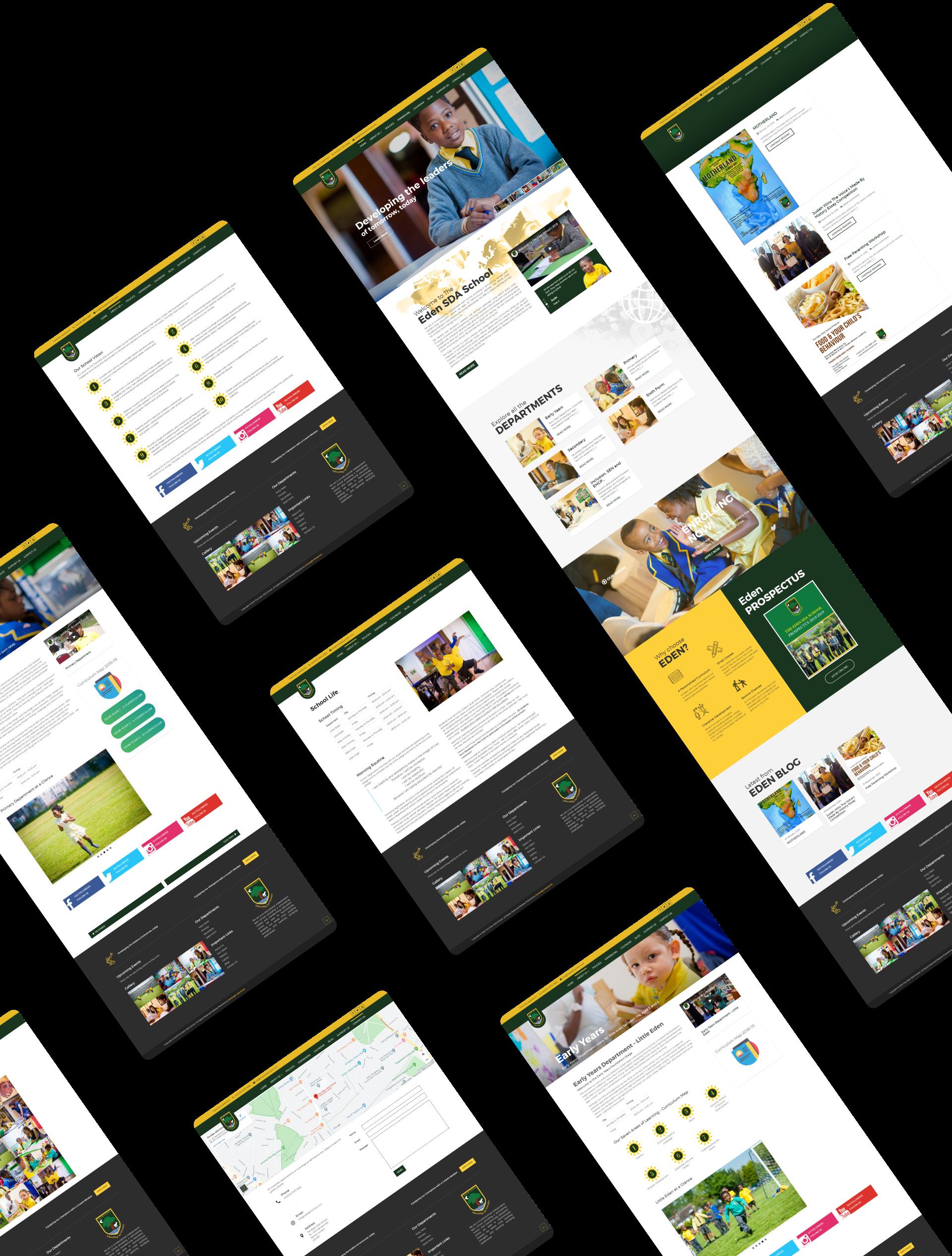 The Eden School Website Mock-up